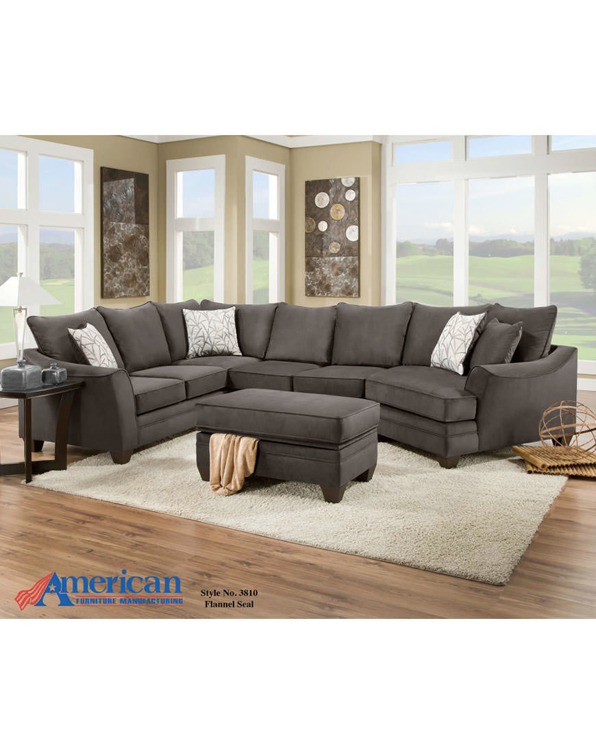 Ashley Maier Sectional In Charcoal Austin S Furniture Depot