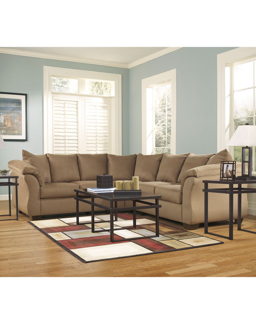 Ashley Darcy Mocha Sectional Austin S
