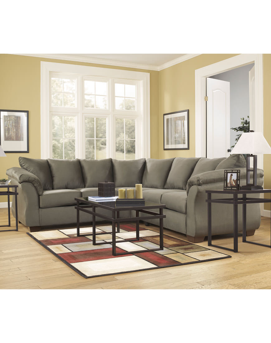 Remarkable Ashley Darcy Sage Sectional Ibusinesslaw Wood Chair Design Ideas Ibusinesslaworg