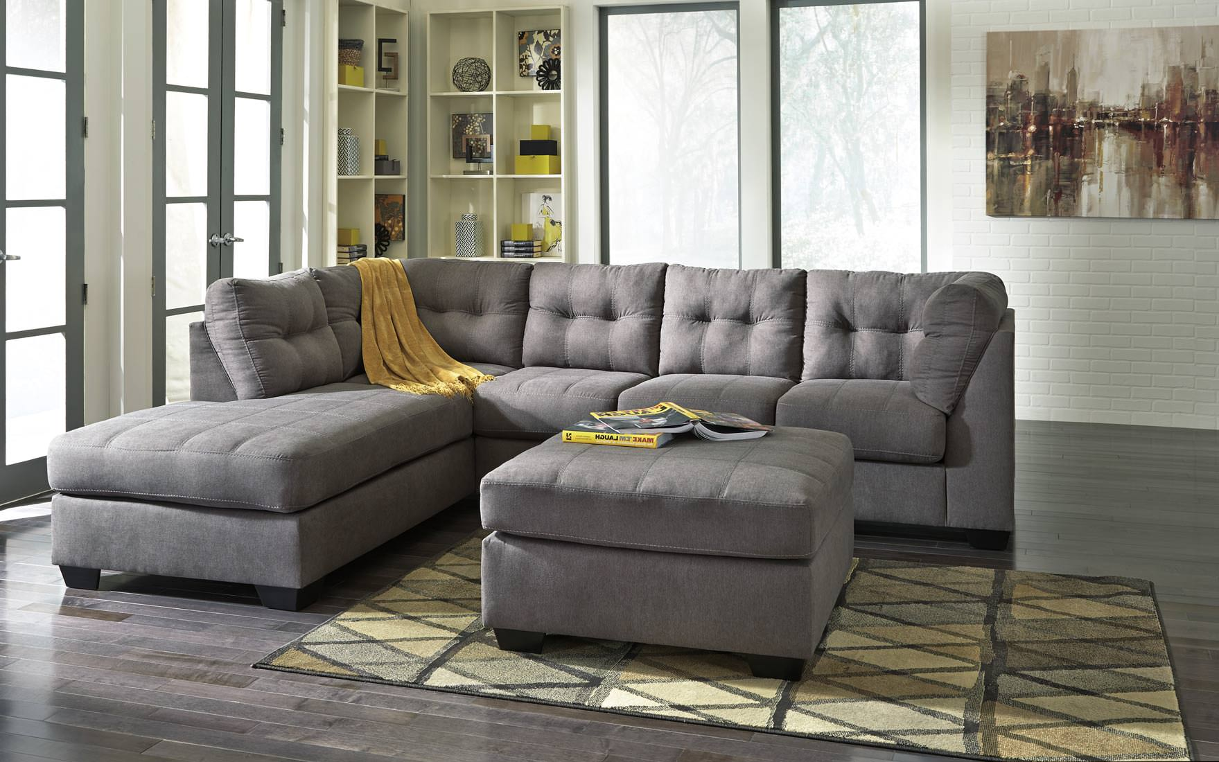 Ashley Maier Sectional in Charcoal