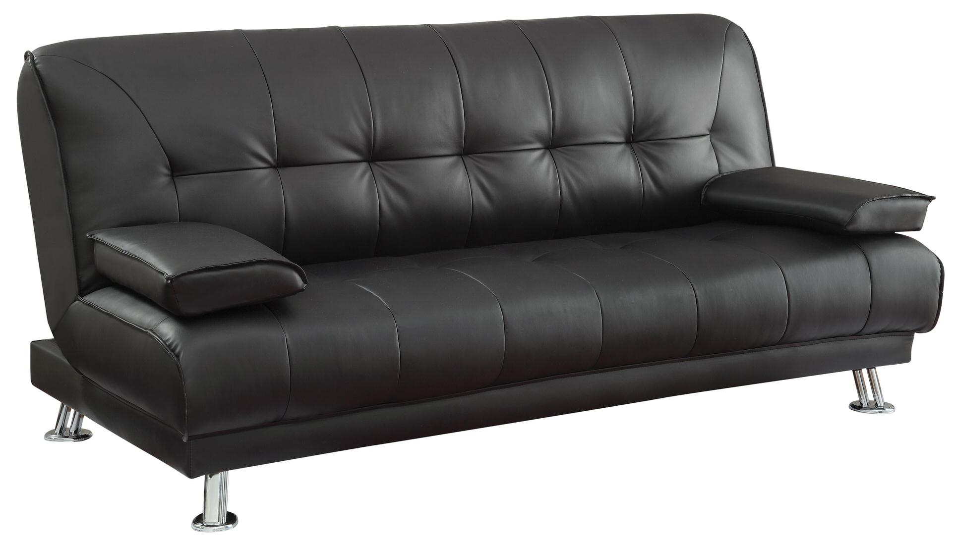 Coaster Faux Leather Convertible Sofa Bed Austin S Furniture Depot