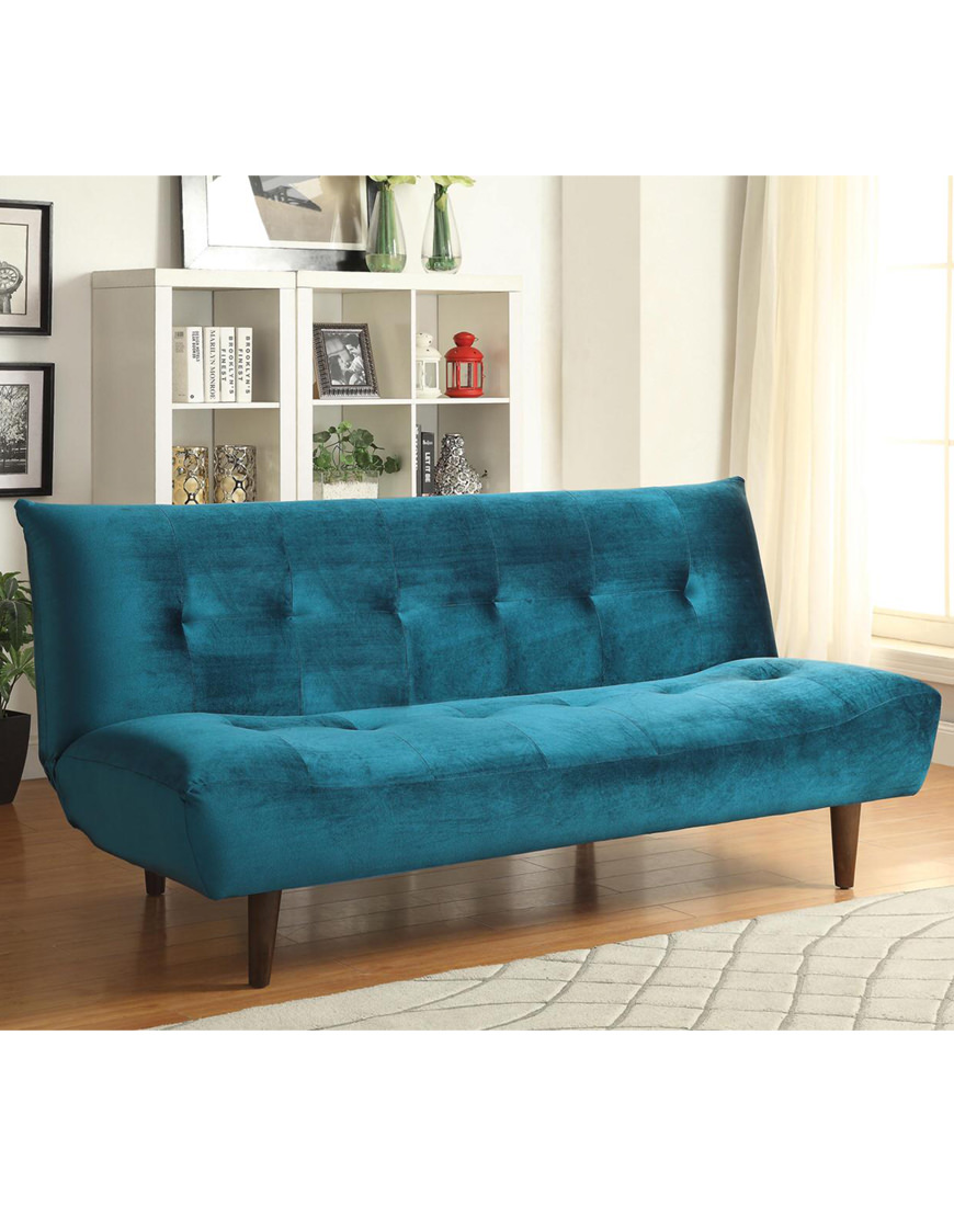 Coaster Teal Velvet Sofa Bed Austin S