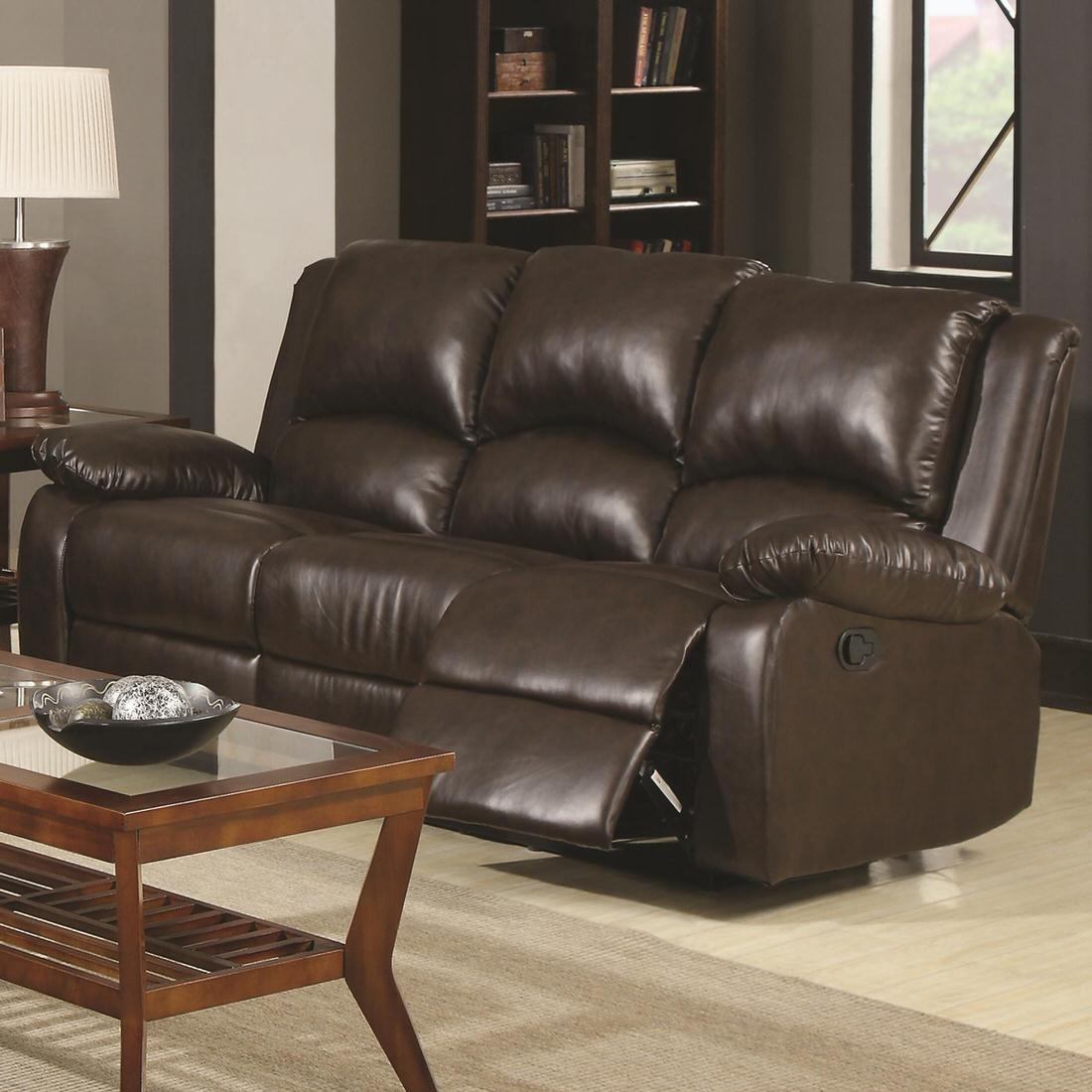 Coaster Boston Casual Three Seat Reclining Sofa Austin S