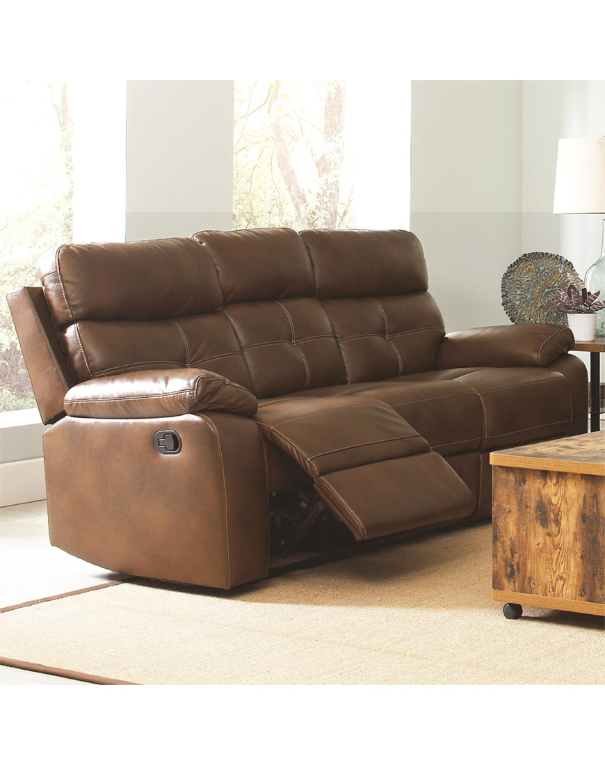 Terrific Coaster Damiano Casual Faux Leather Reclining Sofa Home Interior And Landscaping Palasignezvosmurscom