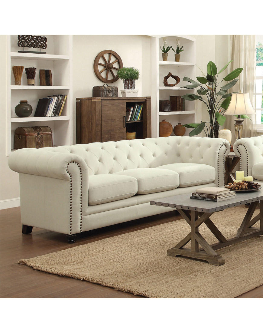 Coaster Roy Traditional Button-Tufted Sofa