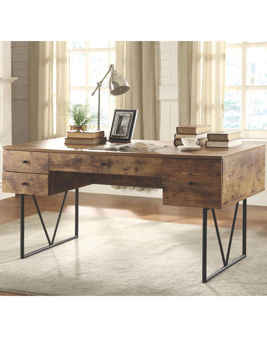 Coaster Desk With Four Drawers Austin S Furniture Depot