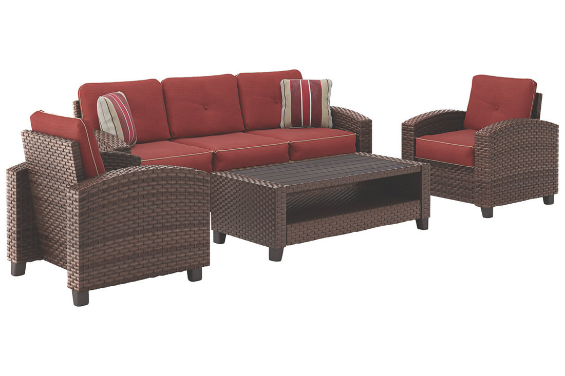 Ashley Meadowtown 4 Piece Outdoor Conversation Set