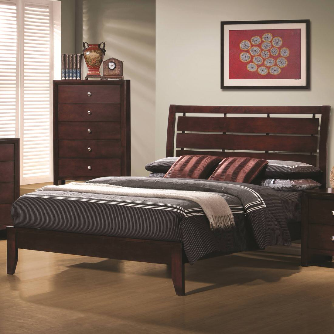 Coaster Serenity Queen Platform Style Bed with Cut-Out ...