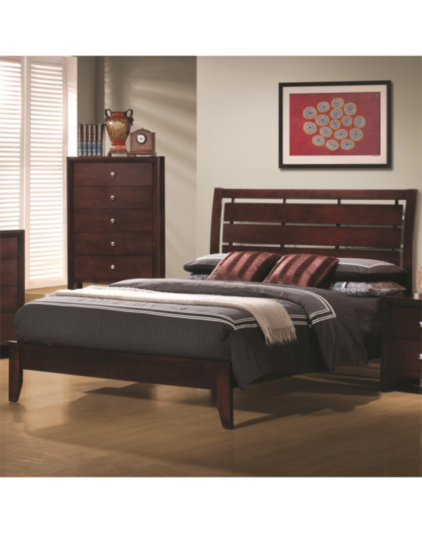 Coaster Serenity Queen Platform Style Bed With Cut-Out