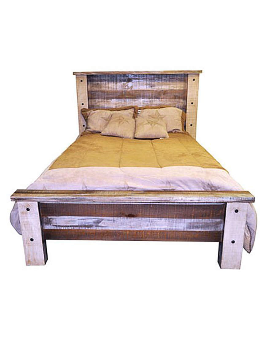 Million Dollar Rustic Slatted Wood King Bed
