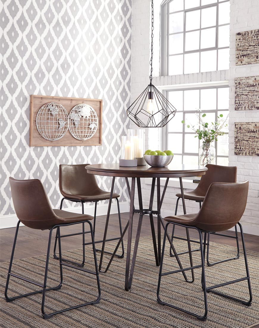 Ashley Centiar 5 Piece Counter Dining Room