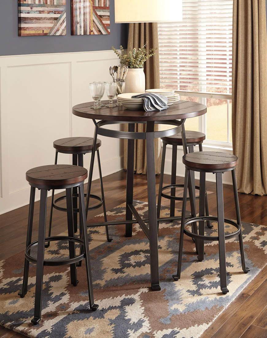 Ashley Hyland Dining Room Table and Chairs (Set of 5 ...