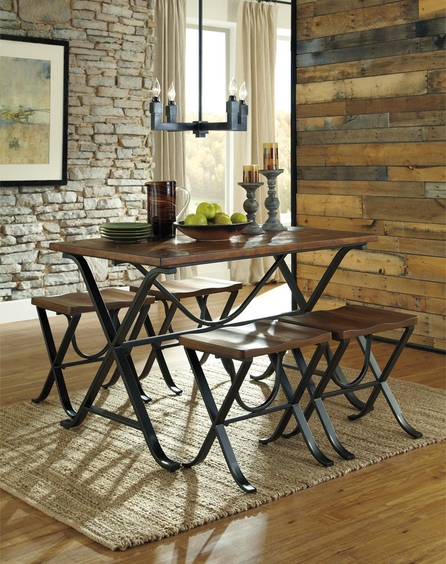 Ashley Freimore Dining Room Table and Stools (Set of 5)