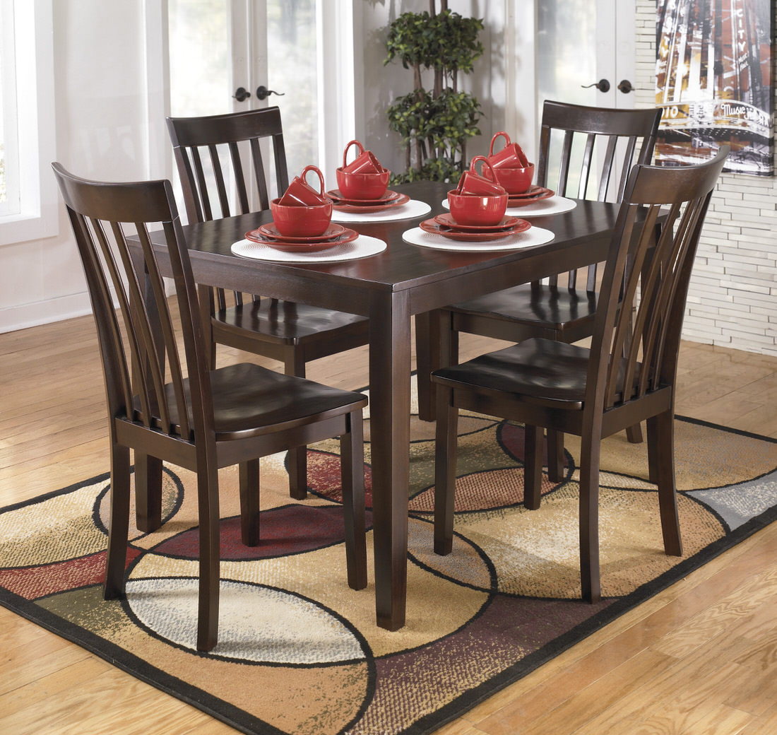 Ashley Hyland Dining Room Table And Chairs (Set Of 5