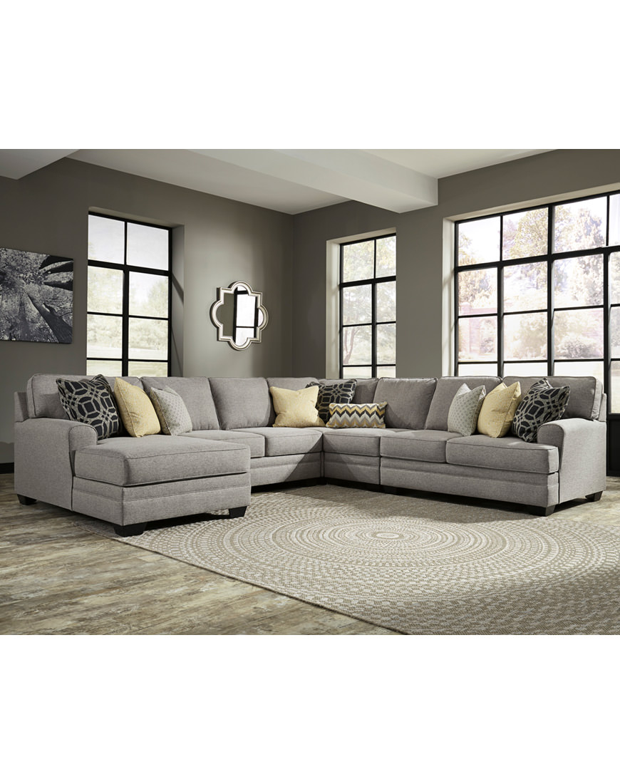 Ashley Cresson Sectional in Grey - Austin's Furniture Depot