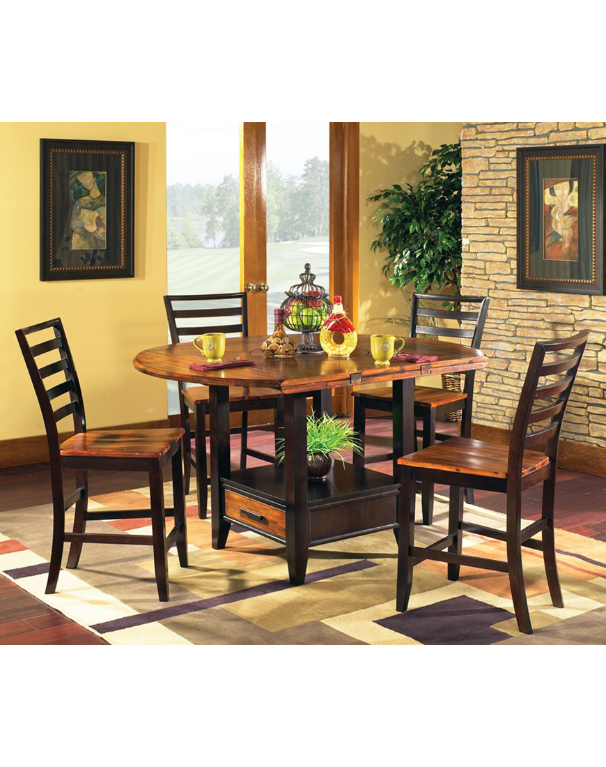 Steve Silver Abaco 5pc Drop-Leaf Counter Dining Set