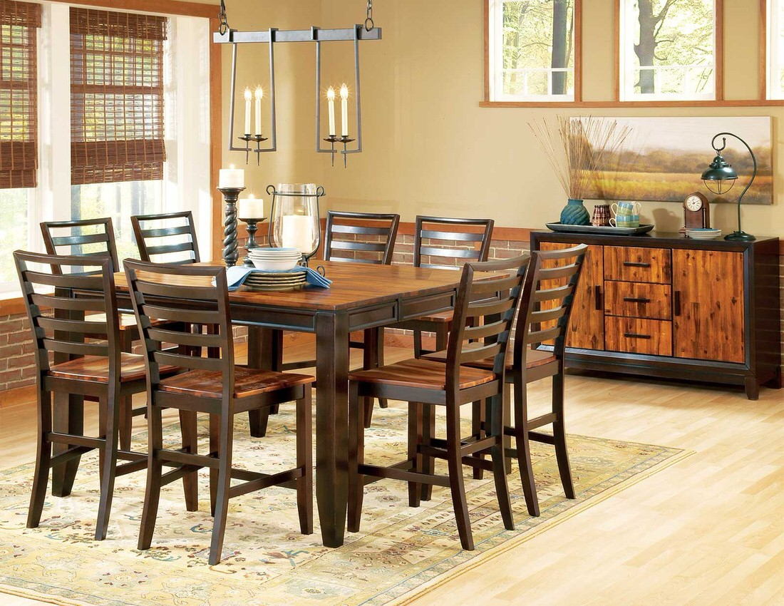 Steve Silver Abaco 9pc 54 Counter Table Set
