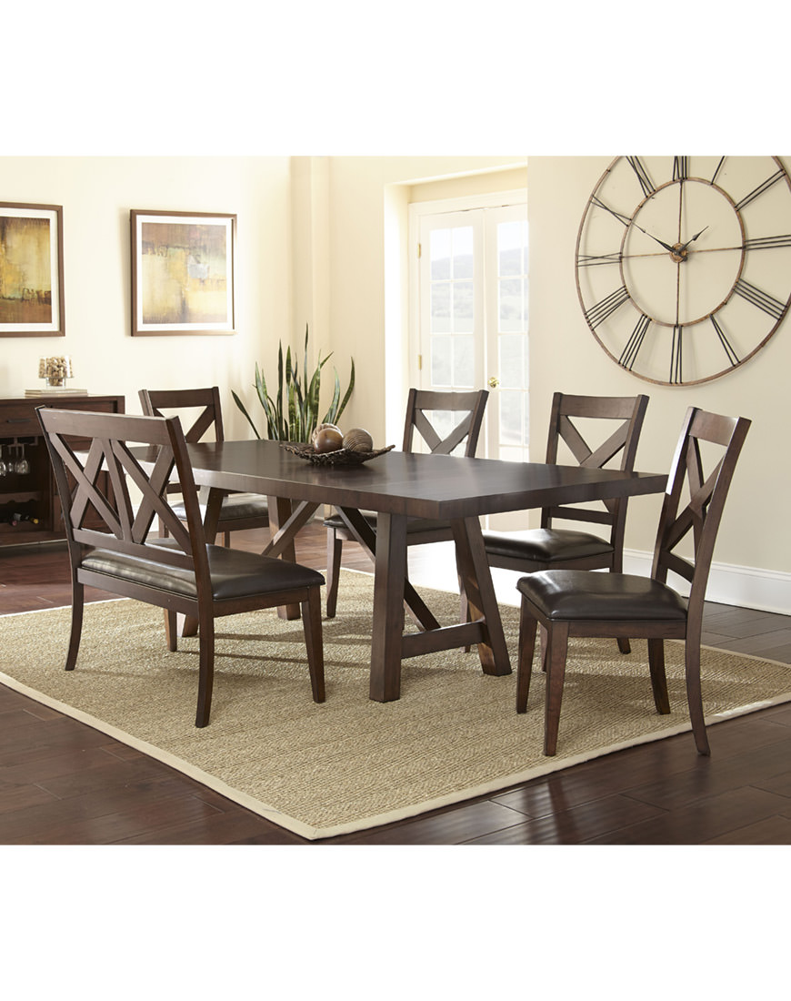 Steve Silver Clapton 6pc Dining Set with Bench