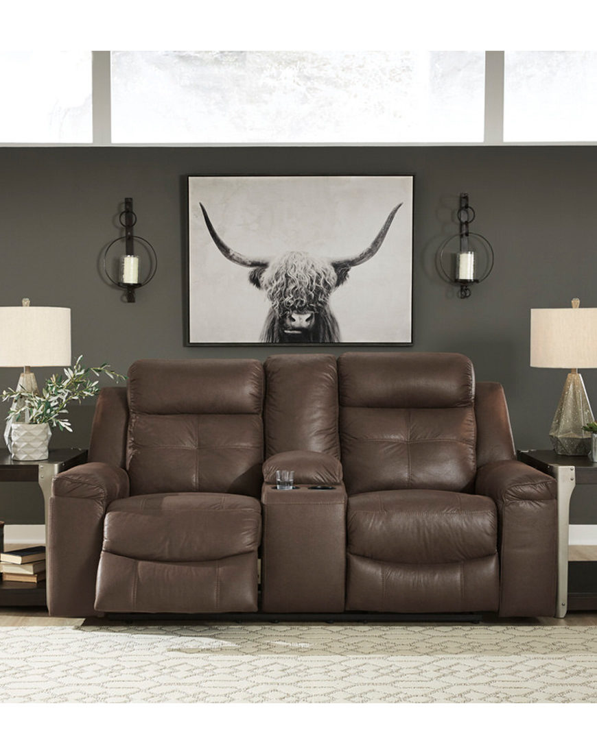 Coaster Clifford Brown Leather Double Reclining Sofa ...