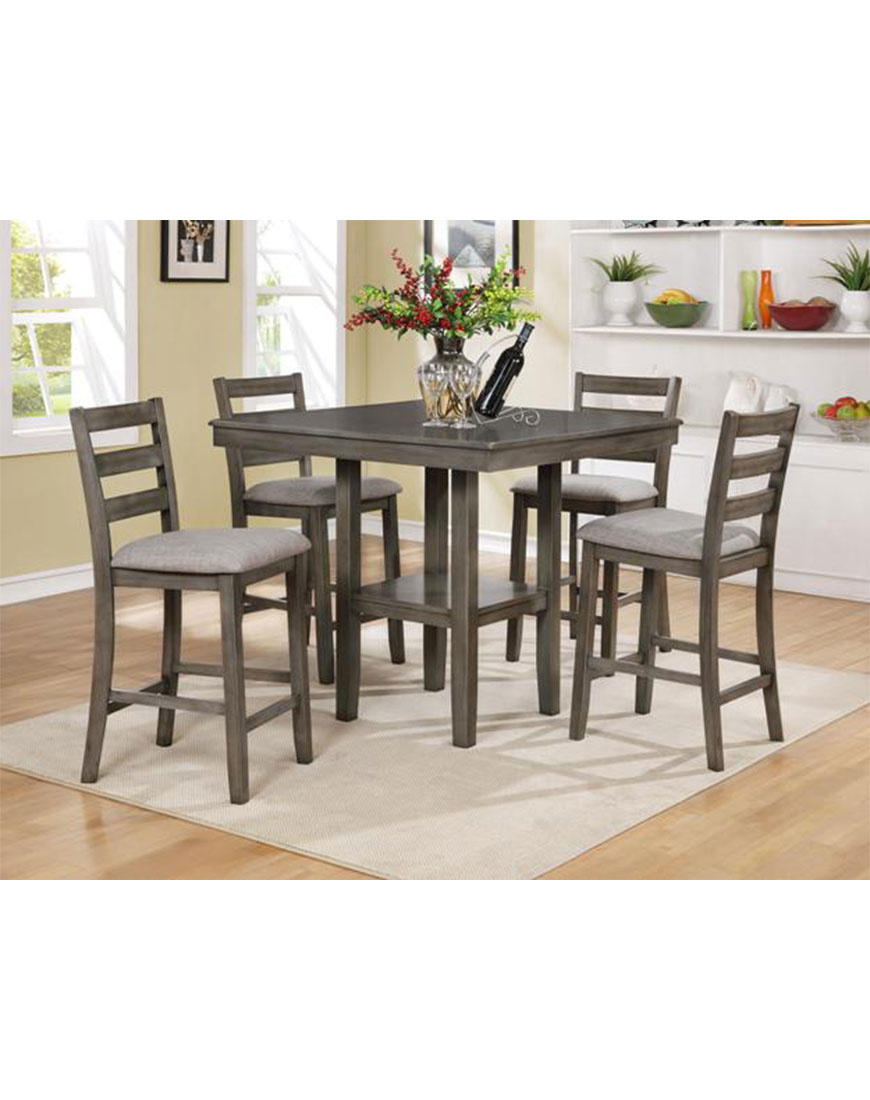 Crown Mark Tahoe 5pc Counter Height Pub Set