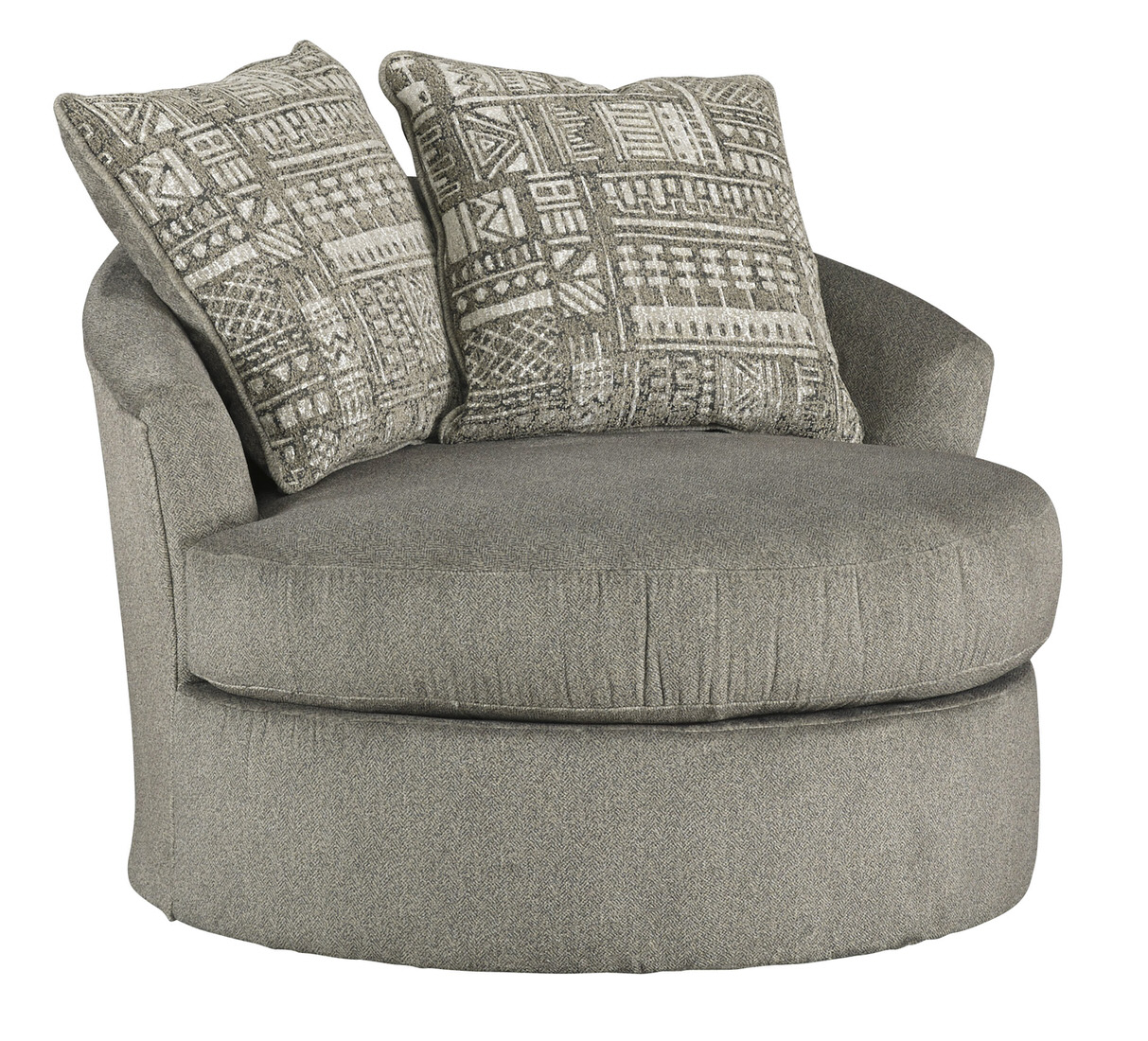 Ashley Soletren Swivel Accent Chair In Ash